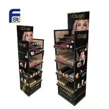 Large Capacity <strong>Point</strong> Of Sale Corrugated Cosmetic Display Stand