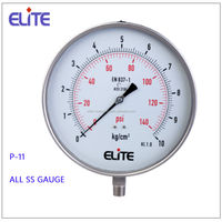 P-11 oil filled all ss pressure gauge all ss manometer