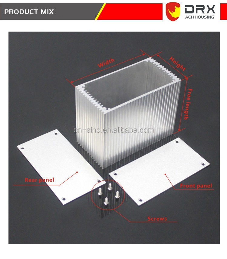 Device remote control aluminum cases customized mounting wall exist Aluminum extrusion enclosure