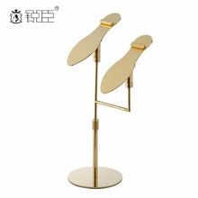 Shopping mall high quality rose gold shoe shine stand