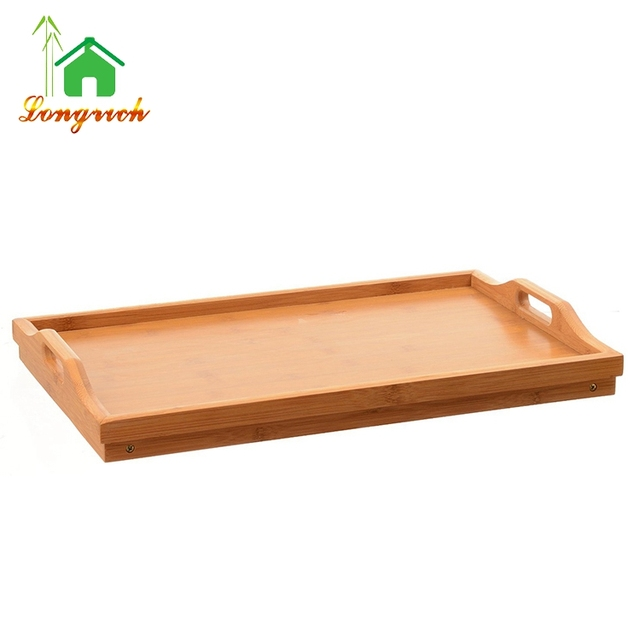 home use natural bamboo wooden tray bamboo serving plate holder cheap bamboo rectangular serving plate