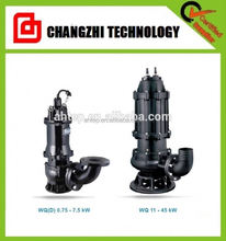 75Kw Centrifugal WQK Submersible Pump Made Of Cast Iron