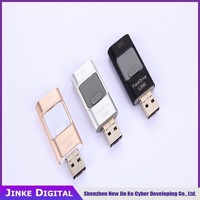 Wholesale Ultra thin mobile phone usb flash drive for iphone &android cell phone mini OTG usb flash disk Best Promotional gift