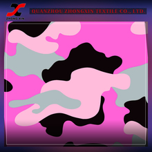 perfect fit high elastic nylon lycra stretch fabric with pink camouflage printing