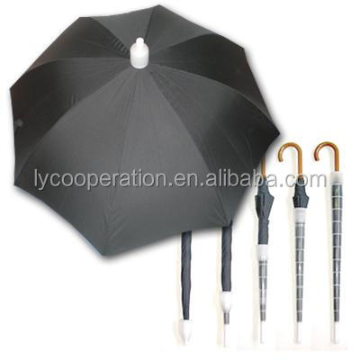 non-drip umbrella for car with plastic cover,waterproof straight umbrella