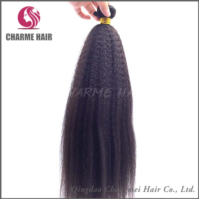 Wholesale Price High Quality Grey Mix Yaki Remi Human Weave Hair