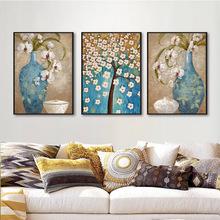 China Wholesale 3Panels The Beautiful Pictures Of Flower Home Goods Wall Art Canvas Painting