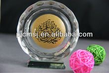 Engraved Islamic Muslim Crystal For Religious Gifts