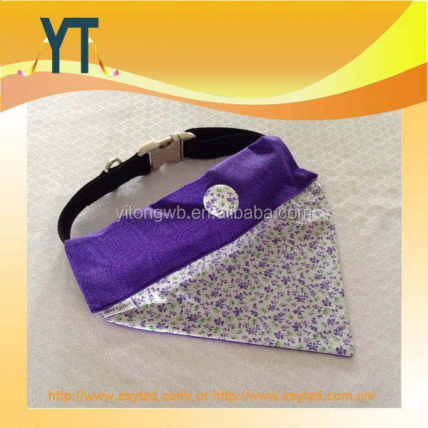 YT Adjustable Triangle Scarf Dog Collar/Dog Bandana/Pet Bandana With Black PP Strap