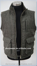 men's woolen quilted vest