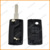 flip remote key replacements for citroen fob case 2 buttons with battery holder NE78 blade