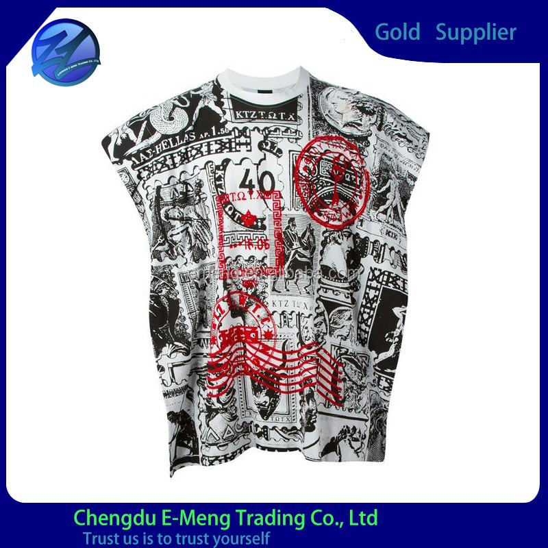Stylish oversize fashion mens printing t shirt with sublimation full printing