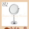 22cm big size bathroom use table standing double sided round shaped led mirror