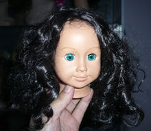 Hot selling black doll hair wigs