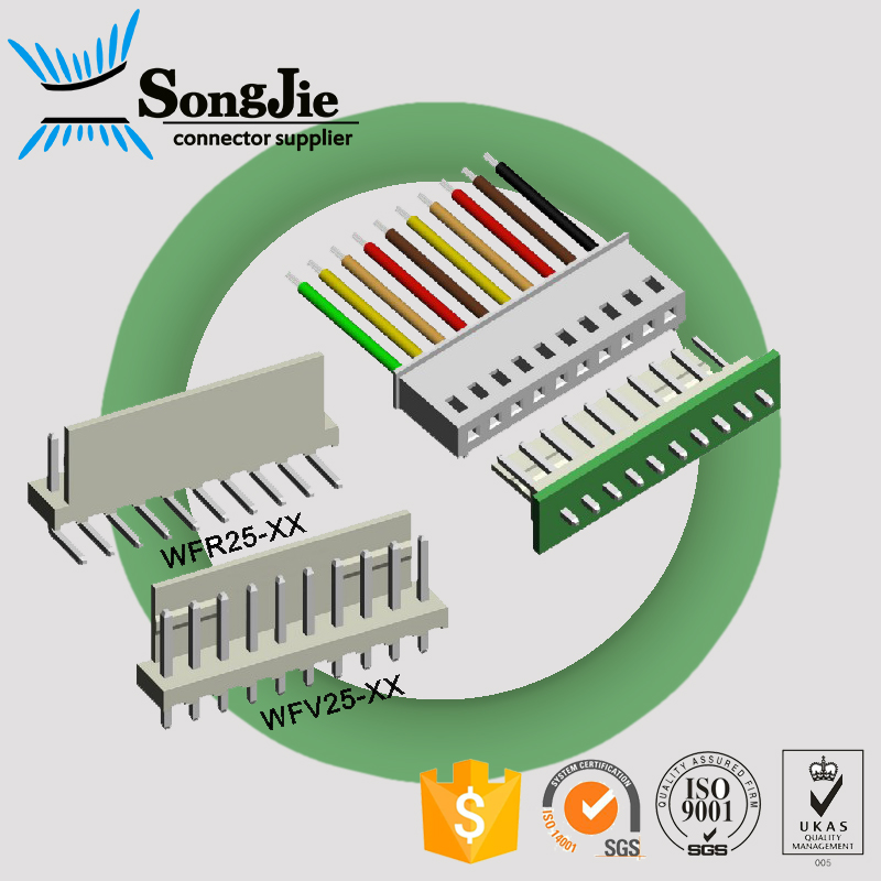 "JST SM 2.5mm (0.098"") Connector Male Single Row Straight Or Right Angle 2 - 20 Pin Connector"