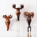 Decorative resin wall mounted animal hook hanger