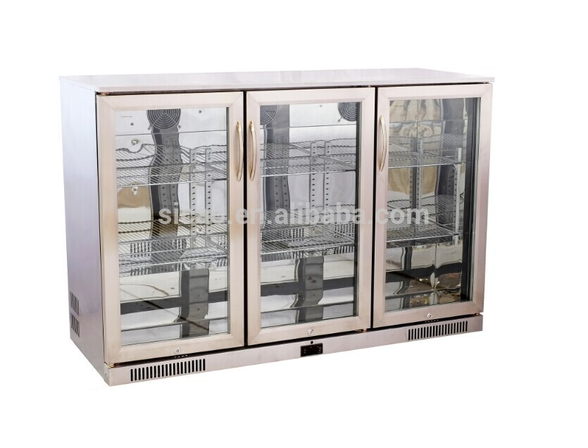 2017 Promotional Commercial Glass Door Back Bar Energy Drink Fridge