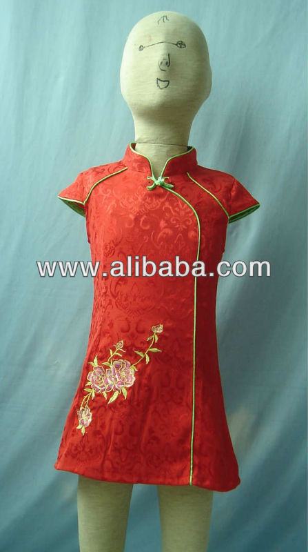 Chinese style girl's dress D138-1C