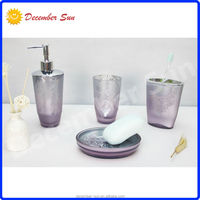 DS hot sale beautiful novelty women buy glass bathroom accessory