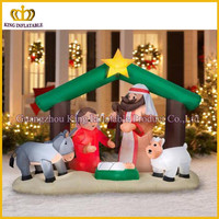 Airblown Inflatable Holy Family Nativity Scene Christmas inflatable cartoon,inflatable Santa cartoon