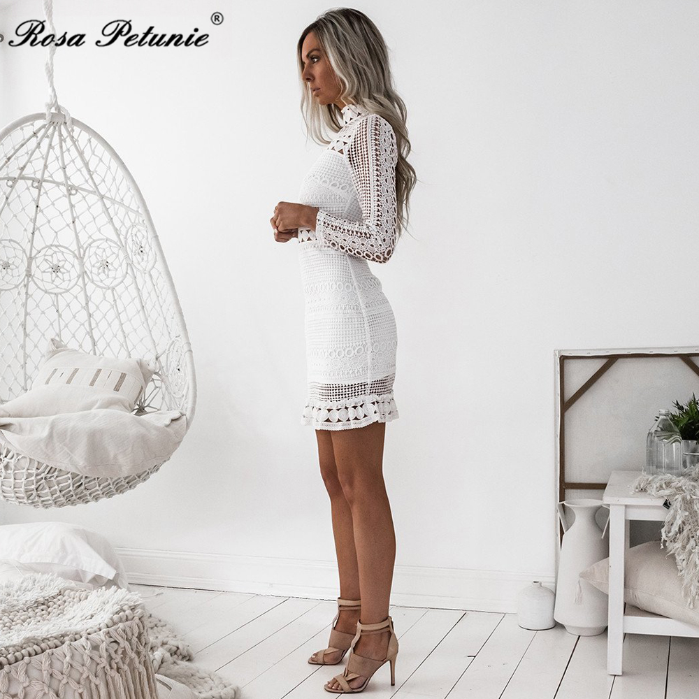 HTB1sOoWfMvD8KJjSsplq6yIEFXaH - Winter 2018 New Sexy White Lace Dress Women's High Quality long Sleeve Embroidery Cutout Elegant Dress Hollow Out Vestidos