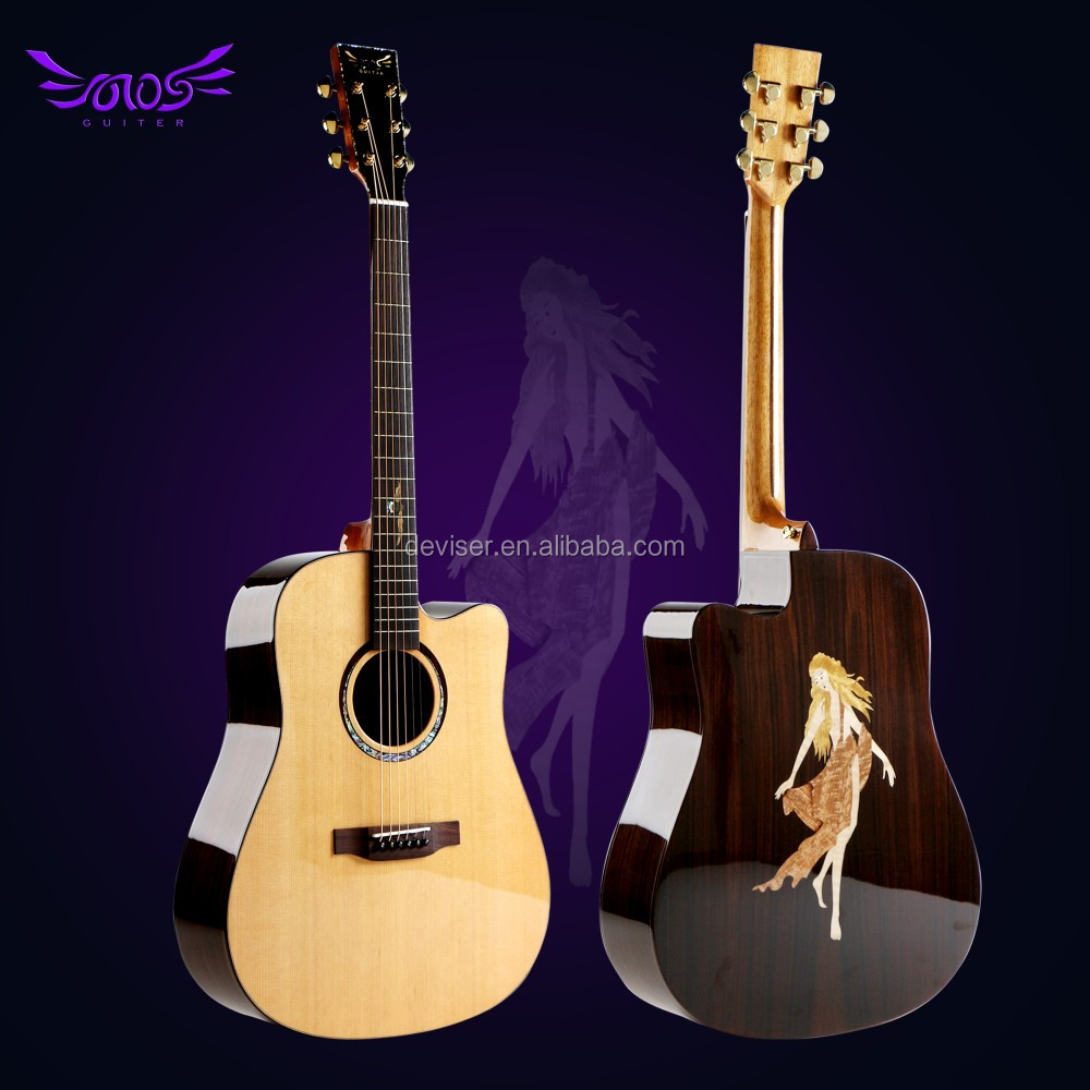 41 inch chinese cutway high quality electric acoustic guitar