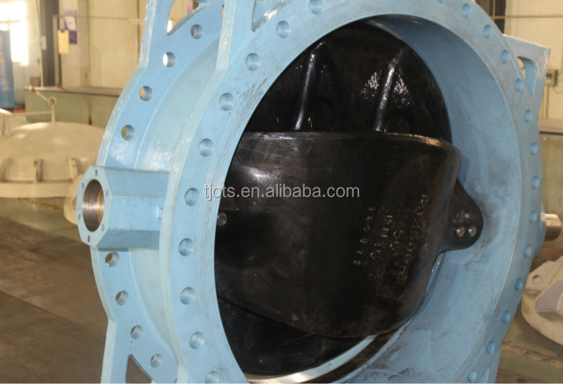 China factory big size butterfly valve worm gear operated