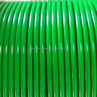 "Orange PVC coated 7x7 construction carbon steel wire rope,1/16"" -3/32"""