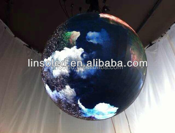 Shanghai LINSO LED Display Ball P4/P6, Advertising Sphere for Night Club