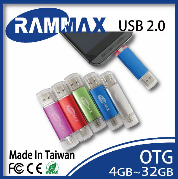 RAMMAX flash drives 128gb otg usb flash drive multi-functions drive for smartphone