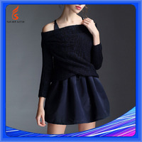 Women Long Sleeve Off Shoulder Knit Shenzhen Sweater Sri Lanka