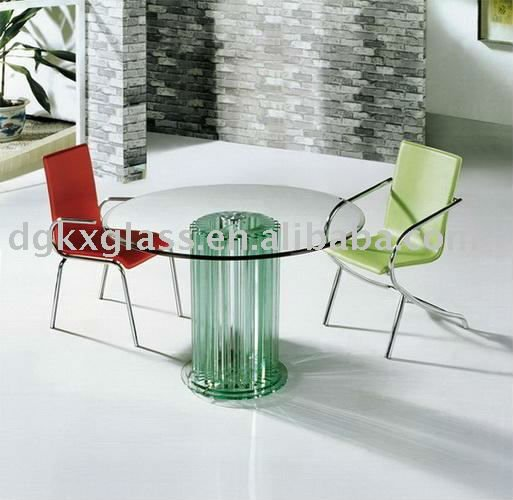 bent glass dining table