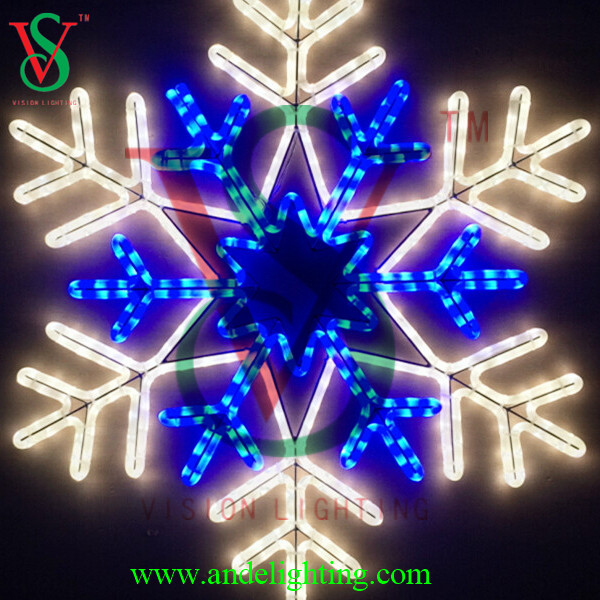 2016 new motif acrylic large flashing sparkle holiday snowflake led light