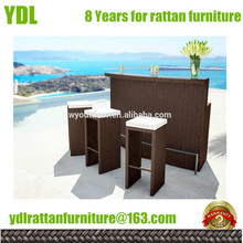 Best quality outdoor wicker bar set YDL-WBS055 rattan furniture