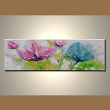 Handmade Flowers Framed Oil Painting With Flowers