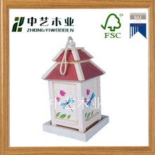 FSC CHINA supplier garden decoration hanging Hand Painted Bird House bird cage bird nest