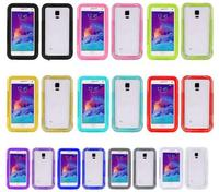 I-202 Waterproof Full Body Protect Design Silicone Membrane Screen Protector +PC Hard Case for Galaxy Note 4 Samsung N910