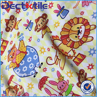 Cartoon Custom Design Digital Printed Spandex Cotton Fabric