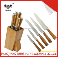 Classic Bamboo Handle Kitchen Knife Sets