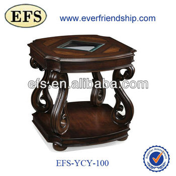 2015 anitque fancy hand carved end table(EFS-YCY-100)