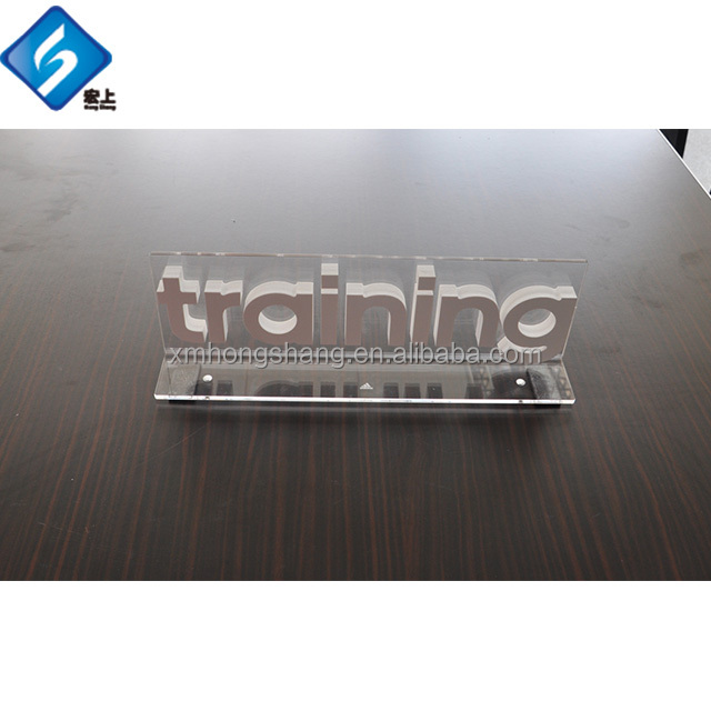L Shape acrylic shop sign upright standing