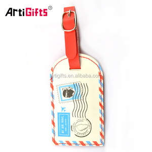 Customized design hotel luggage tags wholesale with strap