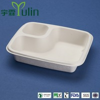 sugercane 7x6 inch 2 compartment tray