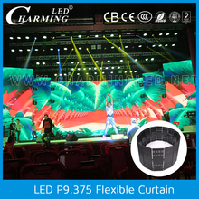 light weight slim flexible outdoor waterproof led curtain