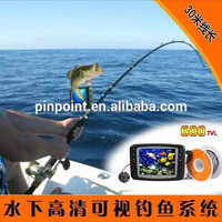 Underwater fishing camera/color fish monitor/fish finder, night vision, 20M cable 360 degree rotate CCD camera