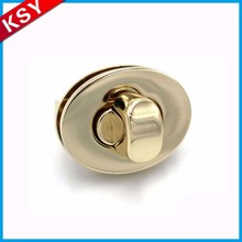 Quality Assurance Inexpensive Products School Bag High Polished Flip Metal Push Button Lock For Bags