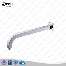 long wall mounted square brass gooseneck shower arm