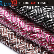 Wholesale fashion african MESH textile design sequin LACE fabric FOR cloth