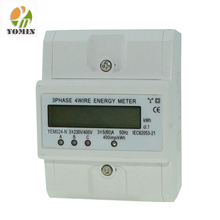 New Type Three Phase Din Rail Digital Electric Smart Power Energy Meter/Kwh Energy Meter