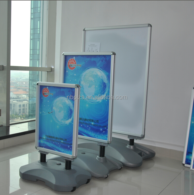 Water Base poster stand,Whirlwind Sidewalk Stand,silver forcourt poster display